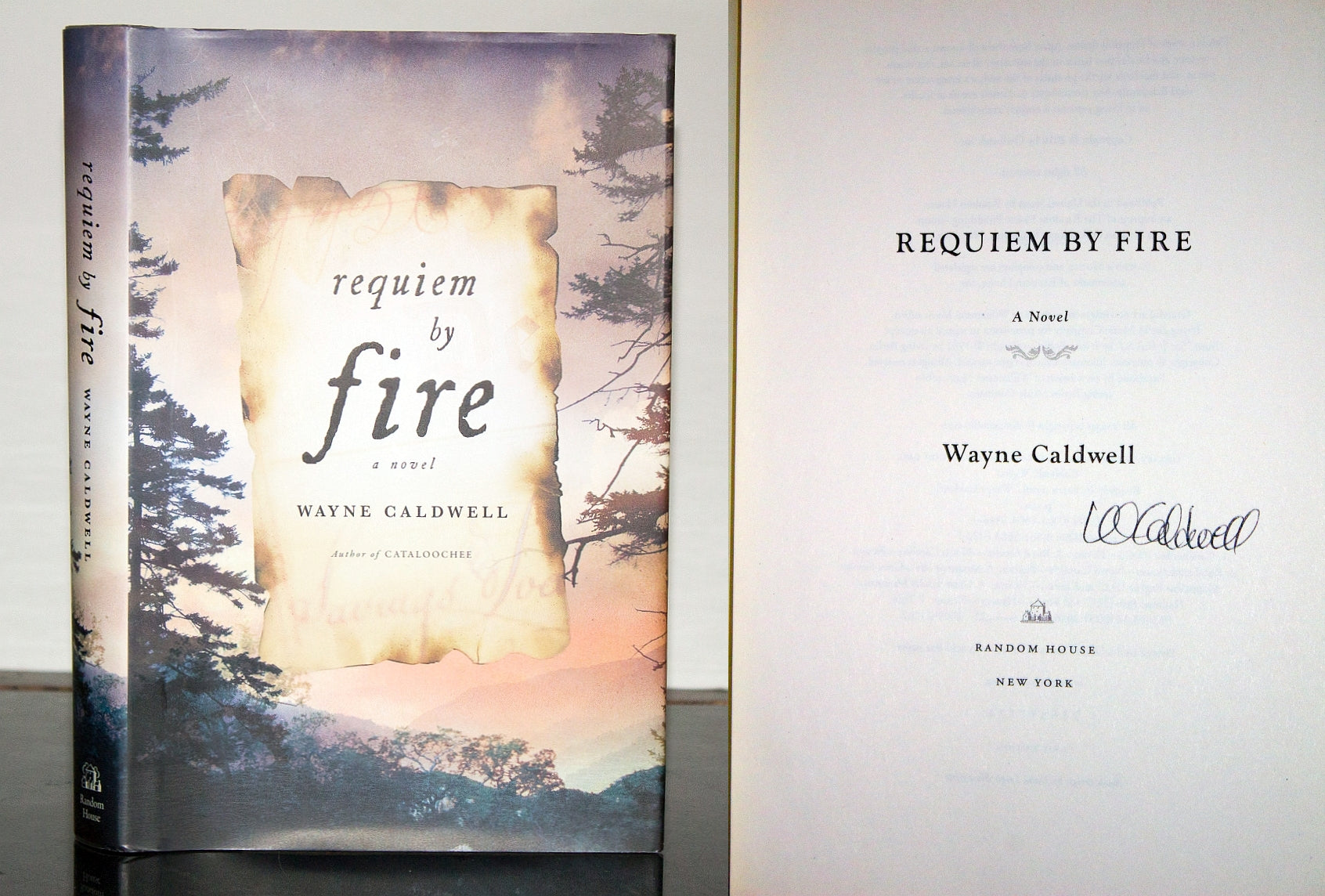 Requiem by Fire Novel by Wayne Caldwell SIGNED First 1st Edition Book Hardcover