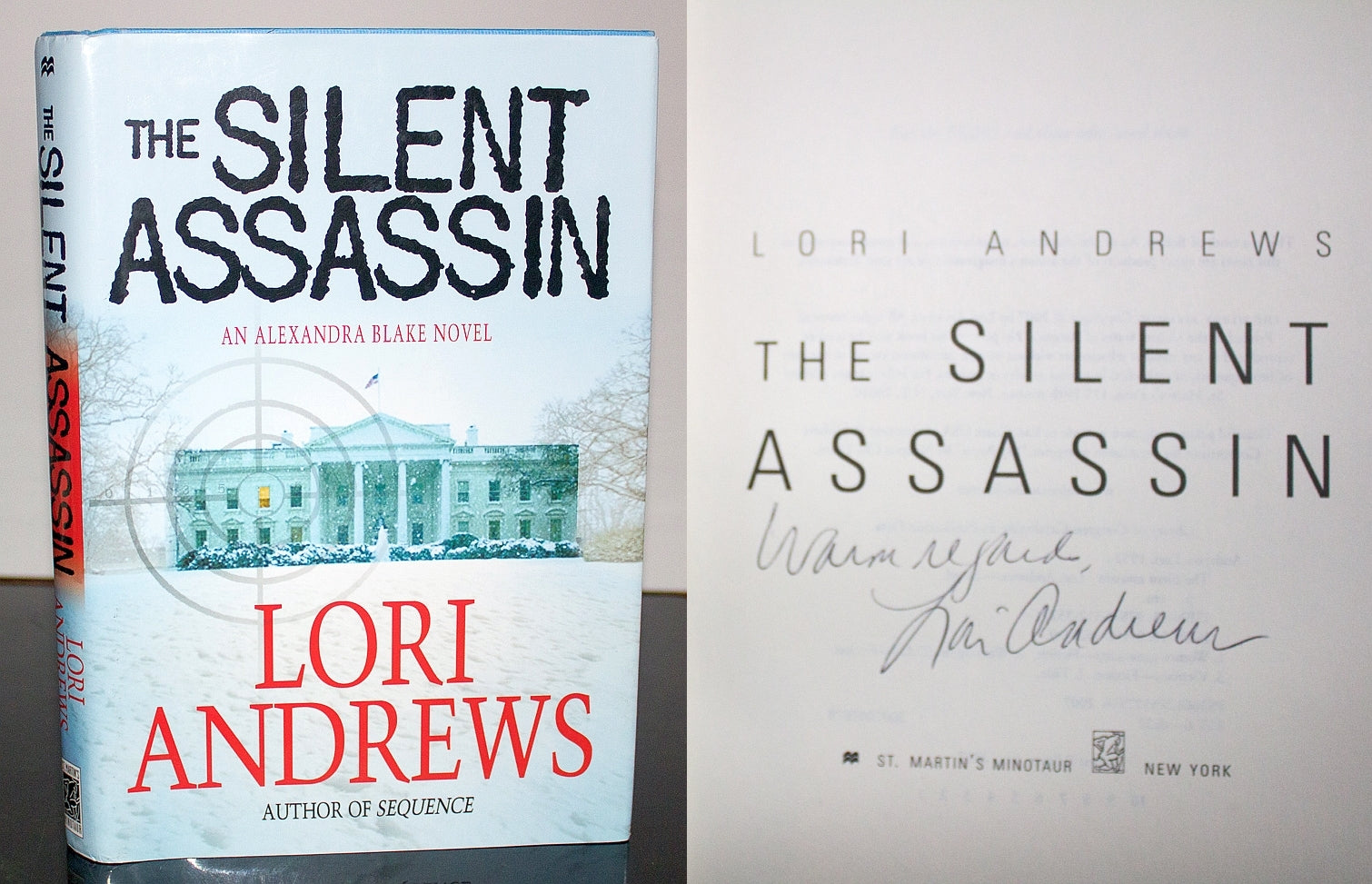 The Silent Assassin Dr. Alexandra Blake Novel by Lori Andrews SIGNED 1st Edition