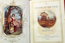 Load image into Gallery viewer, The Seasons of the Year Antique Lithograph Print Book 1858 Color Illustrated