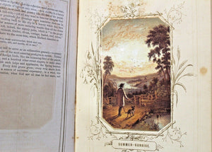 The Seasons of the Year Antique Lithograph Print Book 1858 Color Illustrated