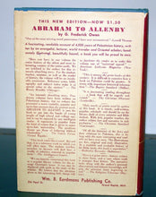 Load image into Gallery viewer, Abraham To Allenby by G Frederick Owen Book Hardcover Illustrated Antique 1941