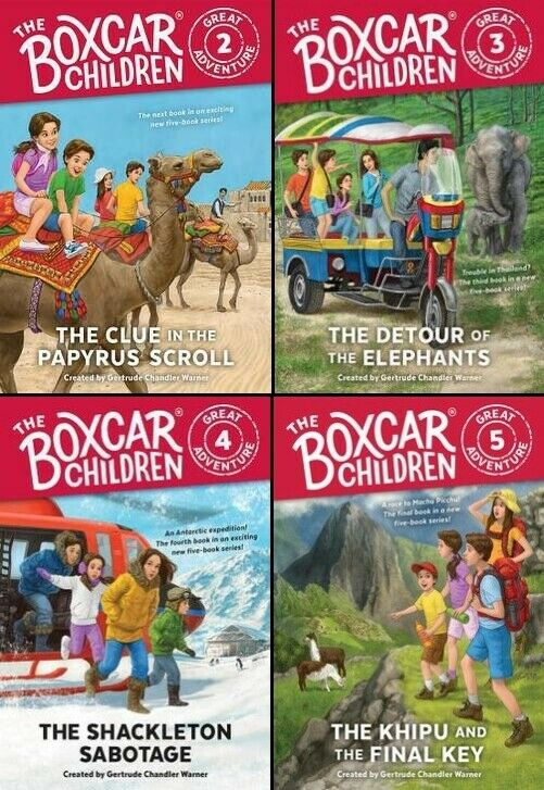 The Boxcar Children Great Adventure Series Lot Set Books 2 3 4 5 Paperback Novel