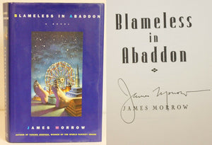 Blameless in Abaddon by James Morrow SIGNED First Edition 1st Printing Hardcover