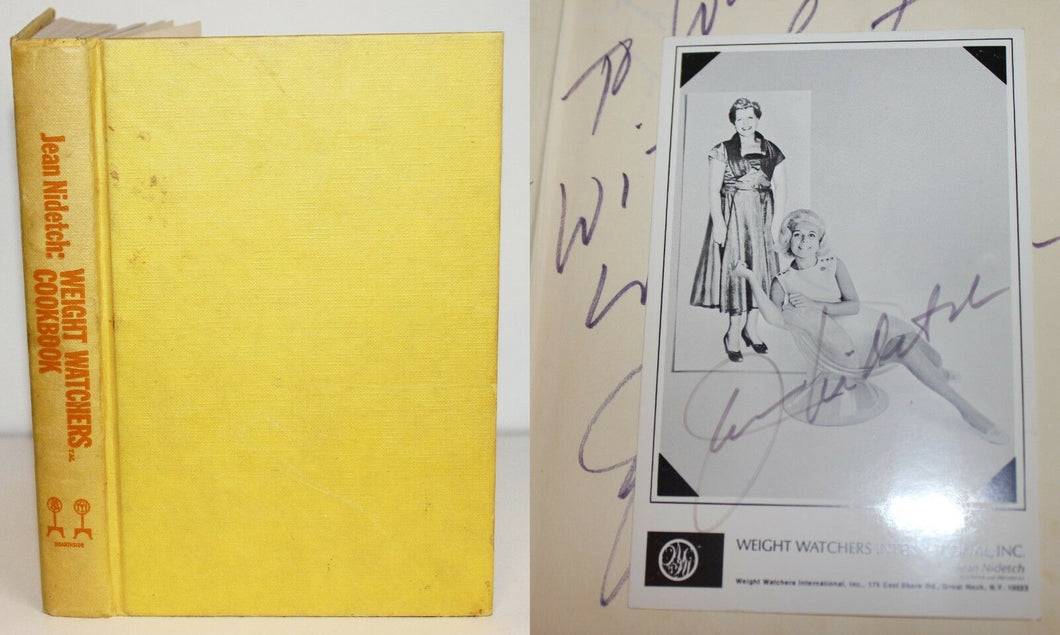 Weight Watchers Cookbook Vintage Jean Nidetch Autograph SIGNED Book 1st Edition