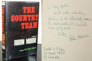 The Country Team by Robin Moore SIGNED Book First Edition 1st Hardcover 1967
