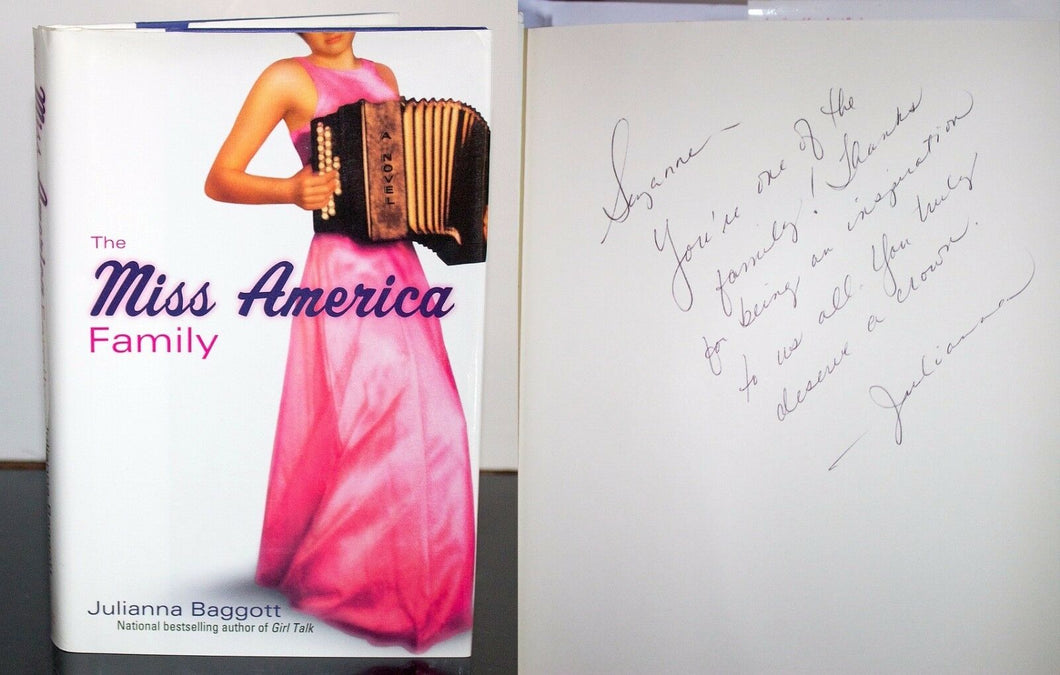 The Miss America Family by Julianna Baggott SIGNED Book Autograph First Edition
