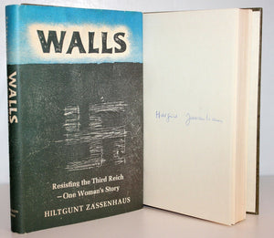 Walls by Hiltgunt Zassenhaus Signed WW2 WWII German Memoir Witness Account Book