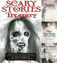 Load image into Gallery viewer, Scary Stories To Tell In the Dark Treasury Bk Set 1 2 3 Original Alvin Schwartz