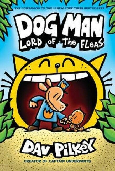 Dog Man Lord of the Fleas Book by Dav Pilkey Dogman Series 5 Hardcover NEW
