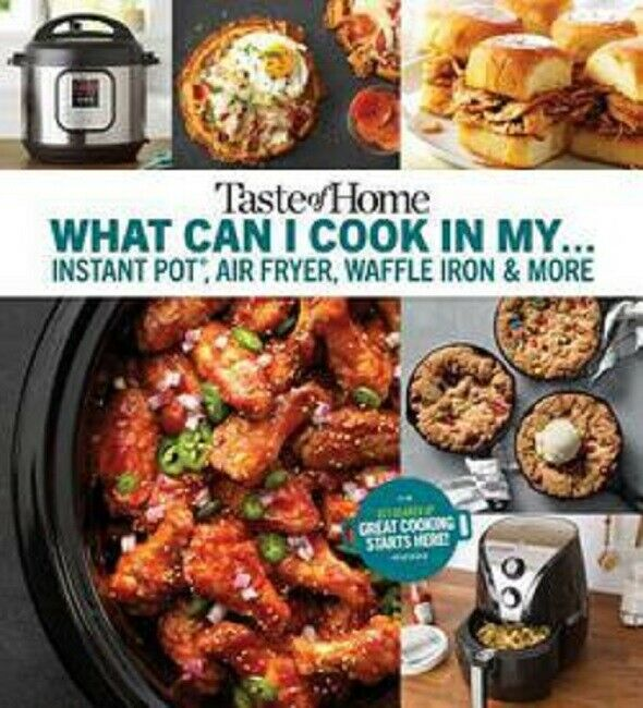 Taste of Home Instant Pot Air Fryer Cookbook Waffle Iron Cook Book Recipes