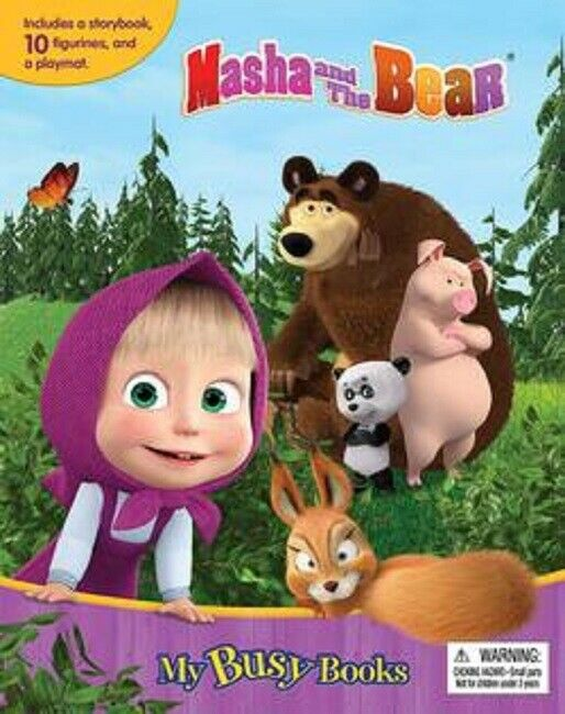 Marsha Masha and the Bear My Busy Book Story Storybook with 10 Figures