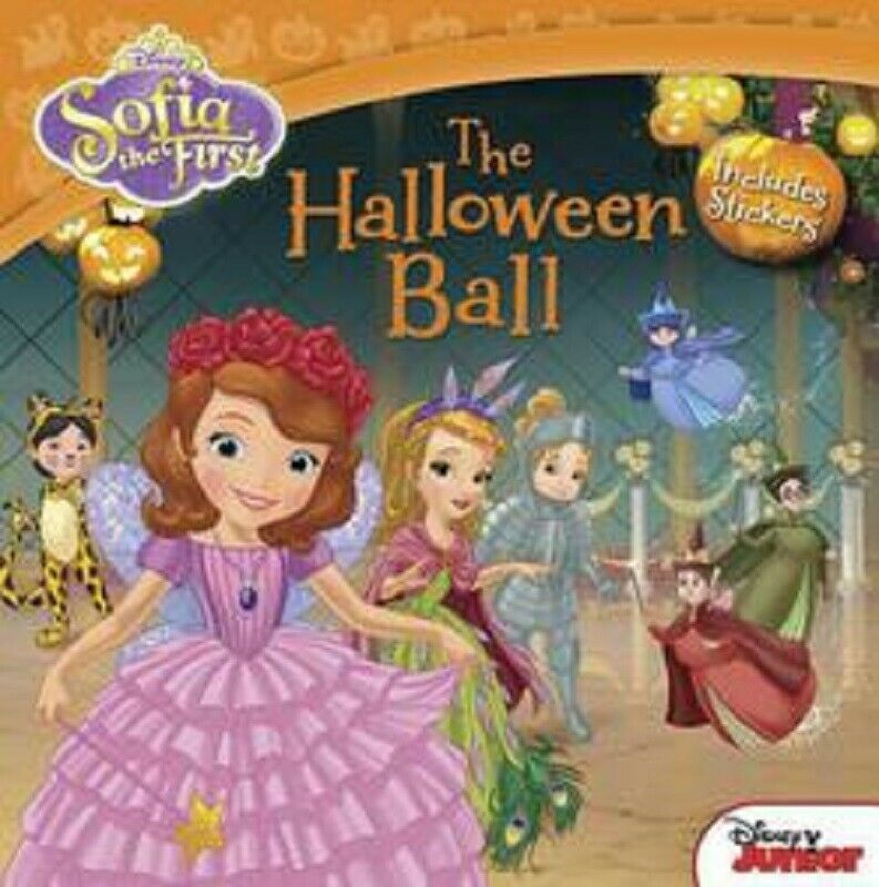 Sofia Sophia the First 1st The Halloween Ball Book with Stickers For Kids Girls