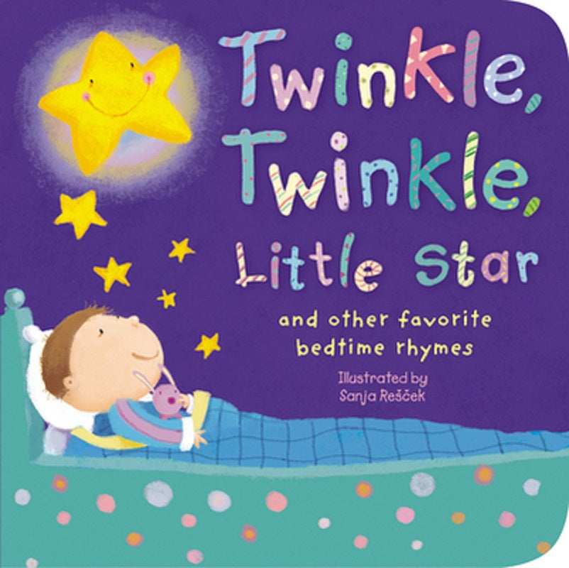 Twinkle, Twinkle, Little Star And Other Favorite Bedtime Rhymes Kids Board Book