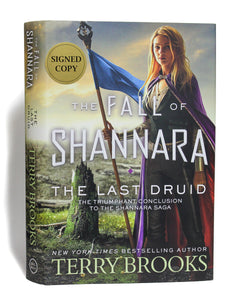 The Last Druid The Fall of Shannara 4 by Terry Brooks SIGNED First 1st Edition