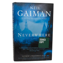 Load image into Gallery viewer, Neverwhere by Neil Gaiman SIGNED First Edition 1st Printing Book Hardcover