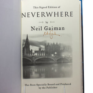 Neverwhere by Neil Gaiman SIGNED First Edition 1st Printing Book Hardcover