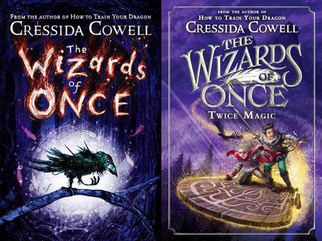 The Wizards of Once Series Lot Books 1 2 by Cressida Cowell Hardcover Hardback