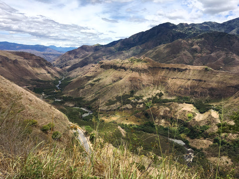 Juanambu Canyon in the Narino region of Colombia