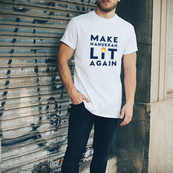 Make Hanukkah Lit Again - Short-Sleeve Unisex T-Shirt