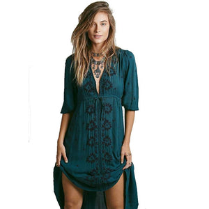 26c54429037 Boho-Inspired Long Embroidered Maxi Dress S-L 3 Colors – Floessence