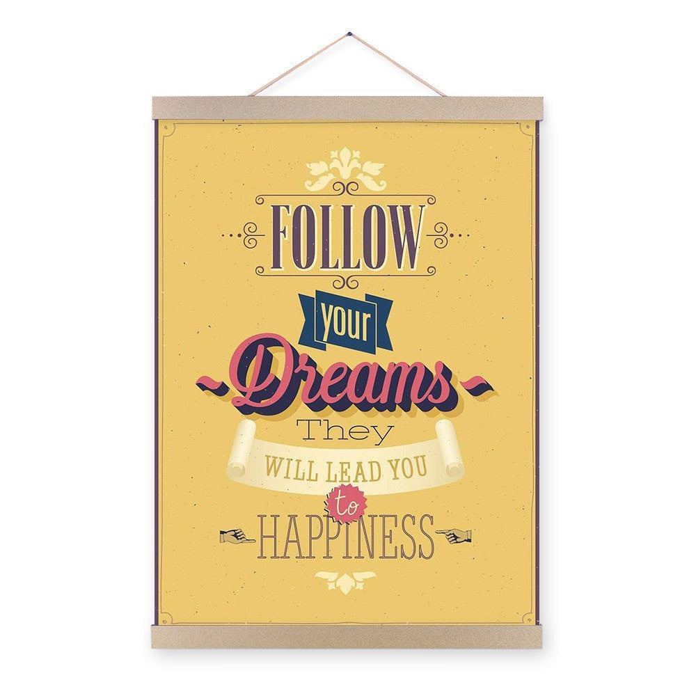 Colorful Motivational Vintage Life Quotes Poster Canvas Wall Art 9 ...