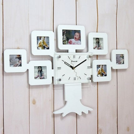 Family Tree Of Life Photo Frame Wall Clock 2 Colors – Floessence