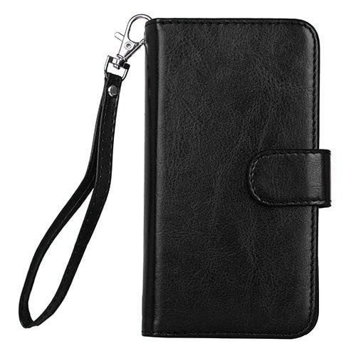 ad617afb9febe5 ... High Quality Folio Leather Flip Wallet Wristlet Cellphone Case w/Card  Holder for iPhone 5 ...