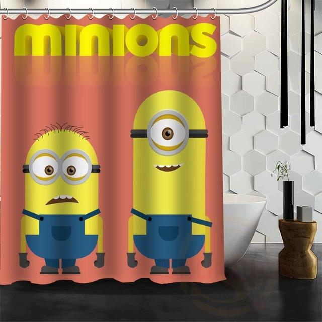 Minion Bath Curtain Waterproof Fabric Shower
