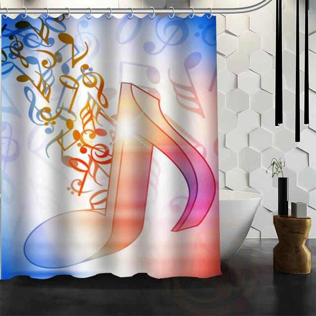Musical Notes Waterproof Fabric Shower Curtain – Floessence