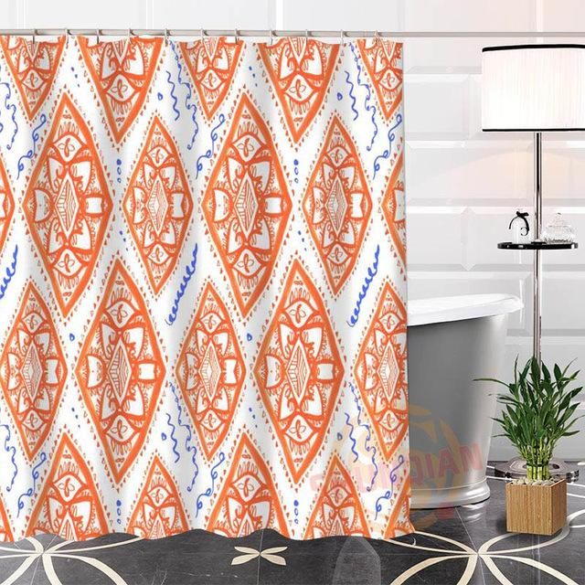 Nice Custom Indian Pattern Shower Curtain