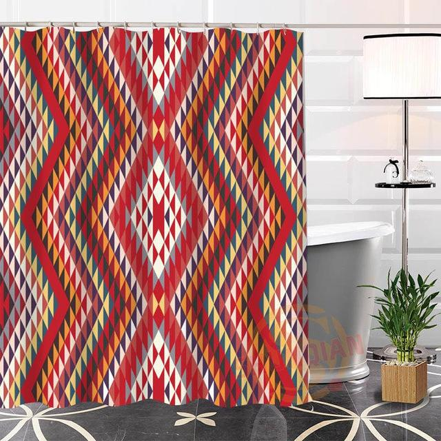Nice Custom Indian Pattern Shower Curtain – Floessence