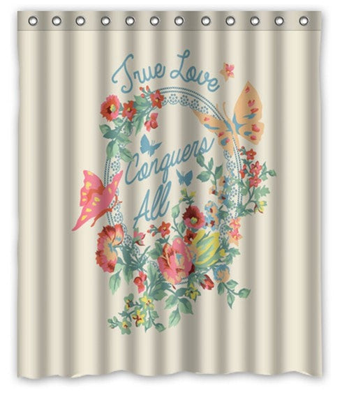 Pretty Butterfly Print 60 X 72 Fabric Waterproof Shower Curtain 24 Designs Loluxe