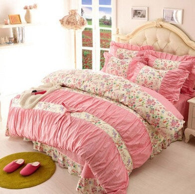 ... Pretty Shabby Chic 4 PC High Quality 100% Cotton Bedding Sets Various  Styles To Choose ...