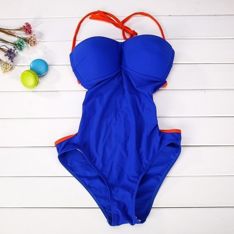 e55461c53 ... Sexy Strappy Halter-Style One-Piece Women s Bathing Suit S-L 2 Colors