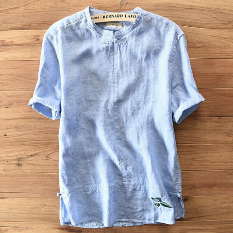 f78b321214d Relax Casual Loose Linen Men s Summer Top M-3XL 3 Colors-Loluxe
