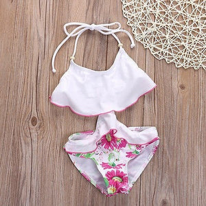 6b928a95680 Sweet Little Girl's Ruffled Floral-Print Mono-Style One-Piece Swimsuit 2-