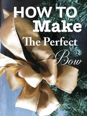 How to make the perfect bow step by step