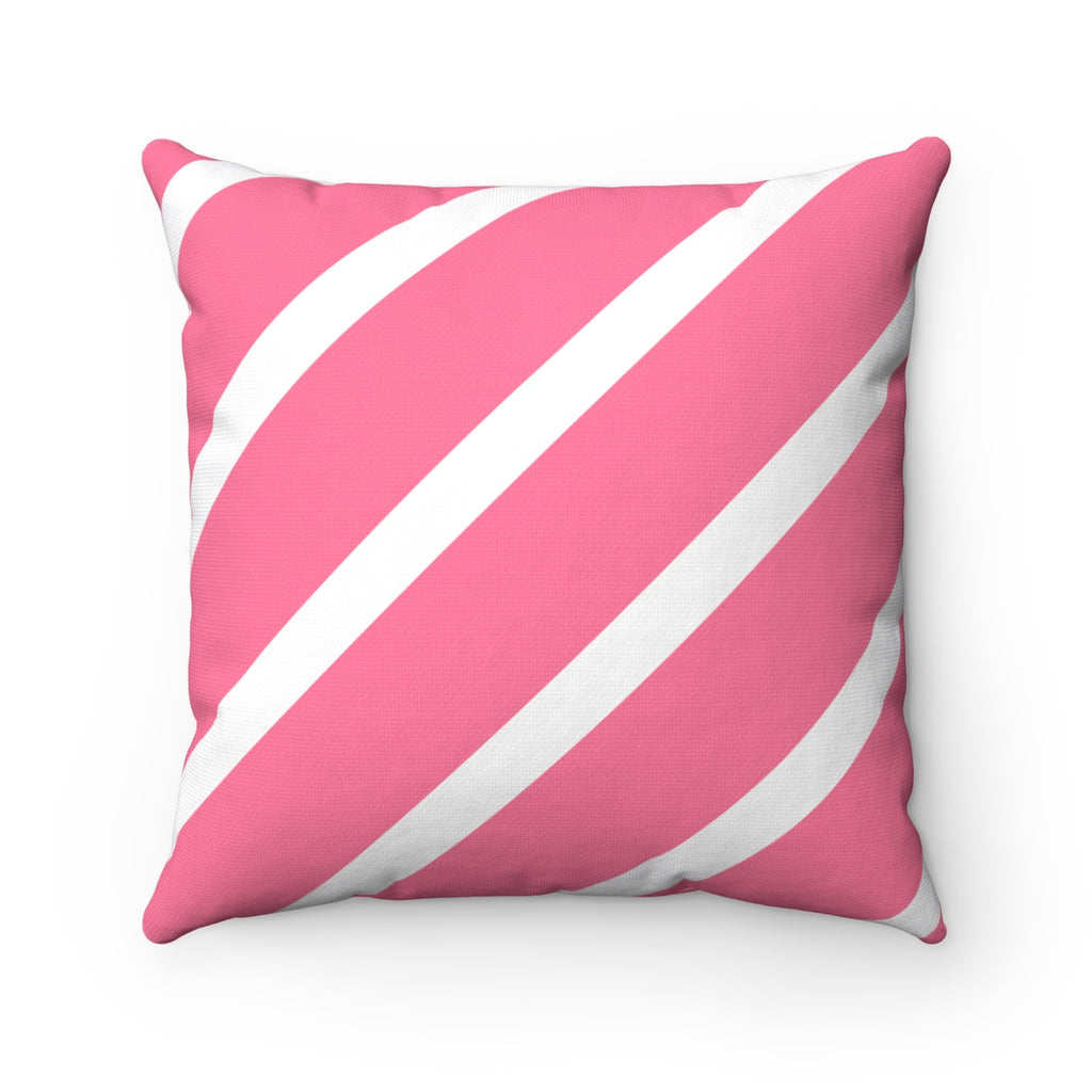 Pink Nautical Throw Pillow