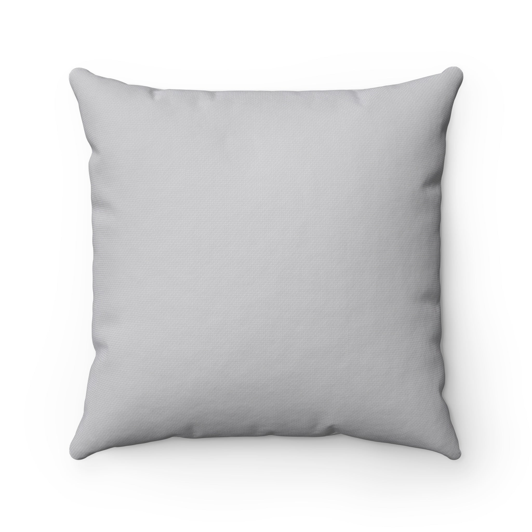 Let it Snow Gray and White  Square Pillow