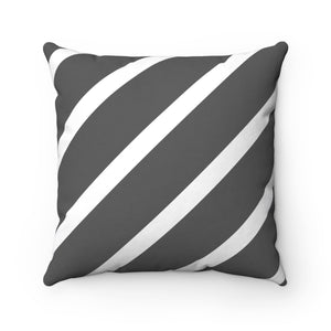 Charcoal Stripe Throw Pillow