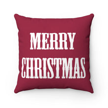 Red Merry Christmas Square Pillow