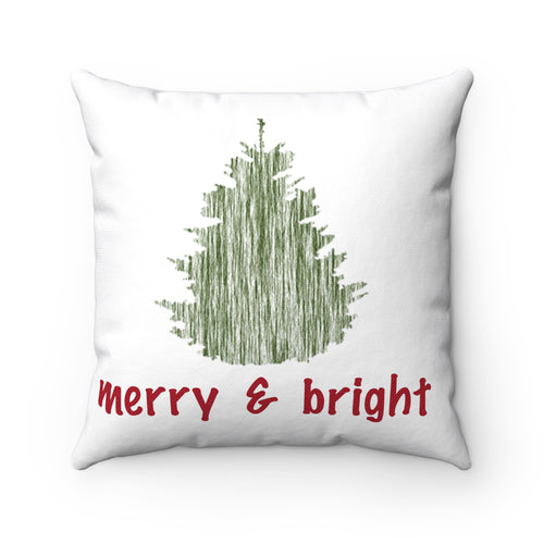 Merry and Bright Square Pillow