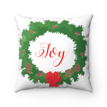 Joy Wreath Square Pillow