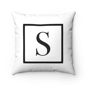 Square Initial Accent Pillow