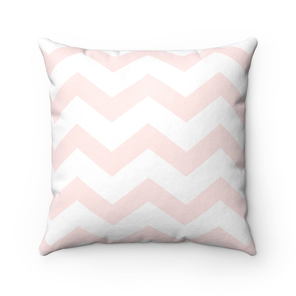Pink Chevron Square Pillow