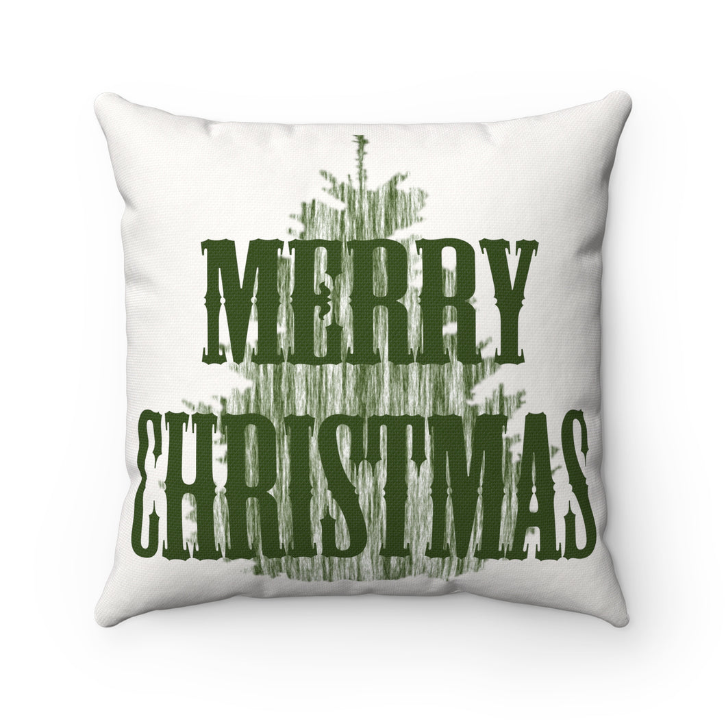 Merry Christmas Square Pillow