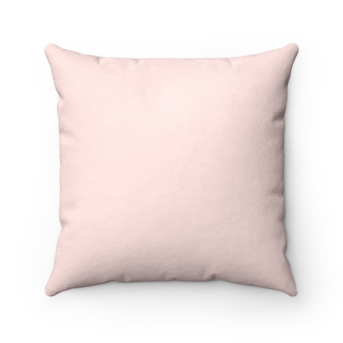Soft Pink Faux Suede Square Pillow