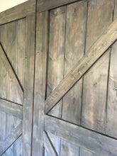 Barn Door Set of 2- British Brace Style