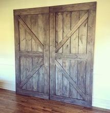 British brace custom barn door