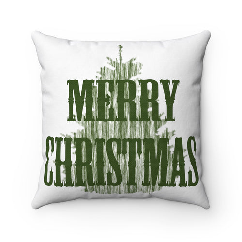 Merry Christmas Decorative Square Pillow